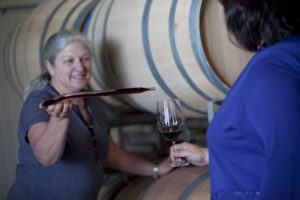 19_Lasseter Family Winery_Julia_Barrel